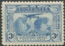 Australia KGV SG122 1931 3d Kingford Smith's World Flights (AGCM/646)